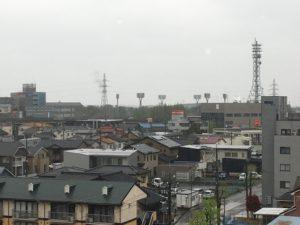 石川県立野球場のライト見えます